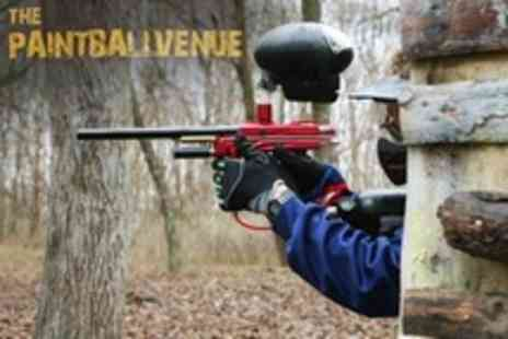 The Paintball Venue - Paintballing For Two With Lunch and 100 Paintballs - Save 83%