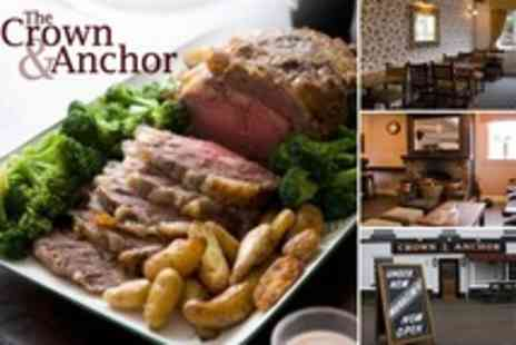 The Crown and Anchor - Sunday Lunch For Two - Save 35%