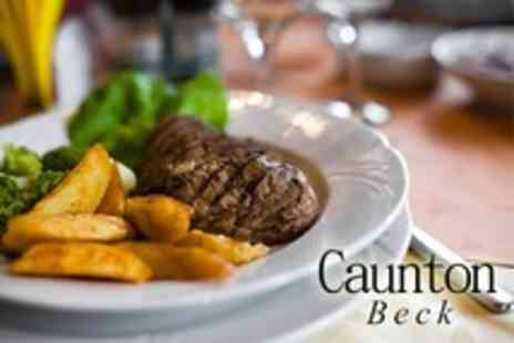 Caunton Beck - Two Course Pub Meal For Two - Save 55%