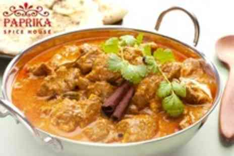 Paprika Spice House - Two Course Indian Meal For Two With Rice and Naan - Save 58%