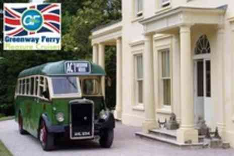 Greenway Ferry Pleasure Cruises - Vintage Bus Ride to Greenway House For Two - Save 50%