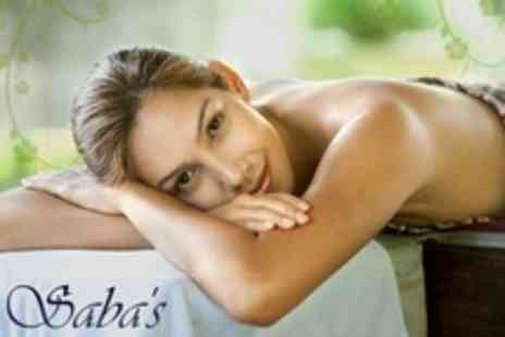 Sabas - Back, Neck and Shoulder Massage Plus Mini Facial and OPI Mani Pedi - Save 77%