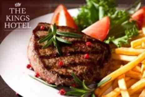 The Kings Hotel - Fillet Steak Meal For Two With Wine - Save 24%