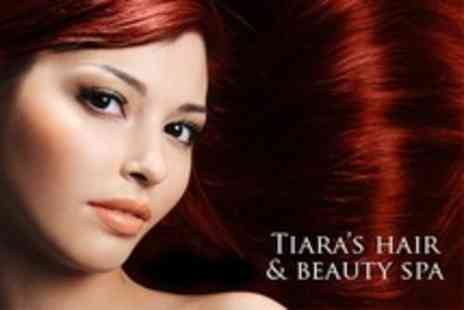 Tiaras Hair and Beauty Spa - Half Head Highlights With Cut and Blow Dry Plus Conditioning Treatment - Save 66%