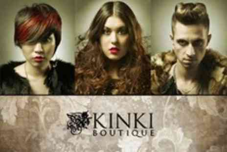 Kinki Boutique - Wash and Cut Plus Highlights Or Great Lengths Hair Extensions - Save 53%