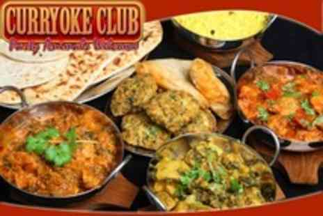 Curry Karaoke - Four Courses, Bubbly and Karaoke For Four - Save 71%