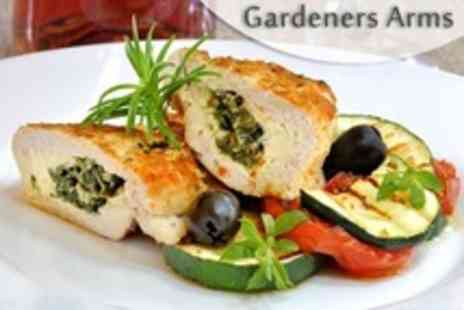 The Gardeners Arms - Two Cheddar Course Pub Lunch With Wine For Two - Save 56%
