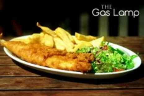 The Gas Lamp - Fish and Chips For Two With Beer or Wine - Save 51%