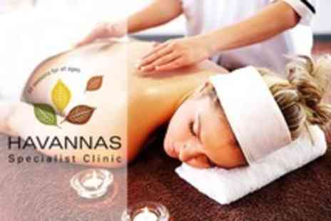 Havannas Specialist Clinic - Back, Neck and Shoulder Massage - Save 54%