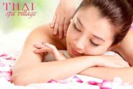 Thai Spa Village - Manicure, OPI Nails and Head, Shoulder and Neck Massage - Save 56%