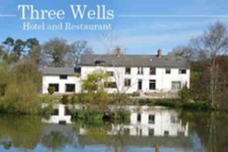 Three Wells Hotel - In Powys Two Night Stay For Two With Three Course Meal and Breakfast - Save 55%