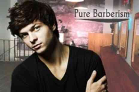 Pure Barberism - Straight Razor Shave Plus Haircut With Indian Head Massage - Save 57%