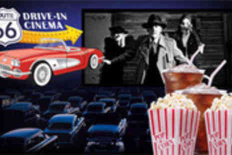 Route 66 Drive In Cinemas - One car entry plus popcorn and drinks - Save 51%