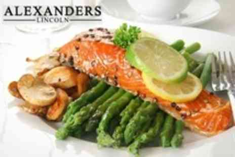 Alexanders Restaurant - Two Course Meal For Two - Save 57%
