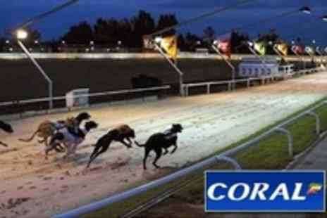 Coral Romford Greyhound Stadium - Greyhound Racing For Two With Food and Drink Plus Race Cards - Save 75%