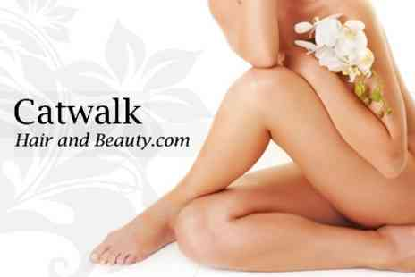 Catwalk Laser and Beauty Clinic - Six Sessions of IPL Hair Removal on One Medium Area and Two Small Areas - Save 86%
