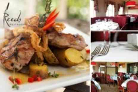 Reeds Restaurant - Three Courses of Modern British Fare for Two - Save 0%
