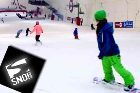 SNO!zone Castleford - One Hour Private Family Lesson For Up to Four at SNO!zone - Save 62%