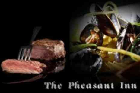 The Pheasant Inn - Steak and Mussels For Two With Prosecco - Save 45%
