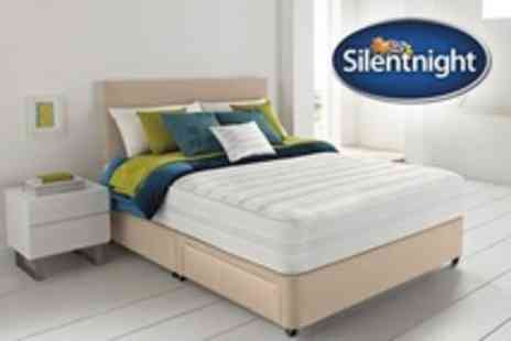 Curated.co.uk - Classic Silentnight Two Drawer Divan Bed With Silentnight PocketZing Mattress - Save 59%