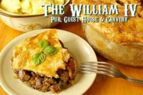 The William IV - Homemade Pie and Mash With Dessert and Coffee For Two - Save 50%
