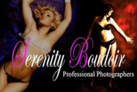 Serenity Boudoir Photography - One Hour Boudoir Photoshoot With Print - Save 75%