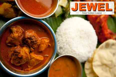 Jewel Restaurant - Two Course Meal With Rice and Naan to Share For Four - Save 61%