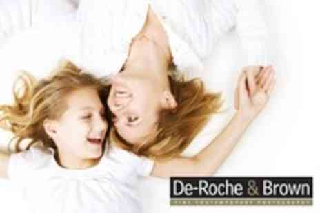 De Roche & Brown Photography - Family Photoshoot With Hair and Make Up For One Person - Save 94%