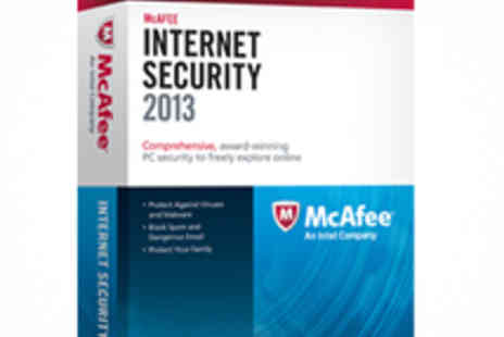 SRE Computing - McAfee Internet Security 2013 Package - Save 76%