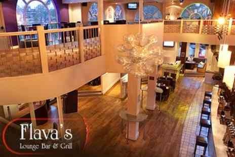 Flavas Lounge Bar and Grill - Two Course Meal for Two With Prosecco - Save 58%