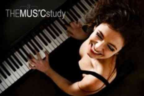 The Music Study - Three 45 Minute Private Music Lessons - Save 80%