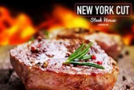New York Cut - Two Course Steak Meal For Two With Wine at New York Cut Steakhouse and Cocktail Bar - Save 53%