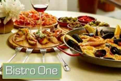 Bistro 1 - Tapas Inspired Two Course Spanish Meal For Two - Save 50%