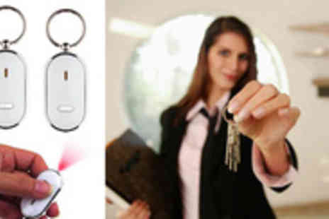 Smartass Marketing - Never lose your keys again with a set of 2 Key Finder Keyrings Plus Light - Save 80%