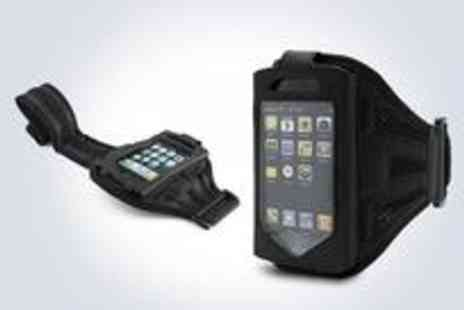 Digital Deals - Two black armband holders for your iPhone or iPod - Save 81%