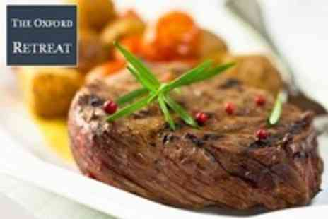 The Oxford Retreat - Steak Meal, Dessert and Bellini Cocktail For Two - Save 56%