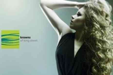 Krowns of King Street - Hair Colouring Service With Cut and Blow Dry - Save 76%