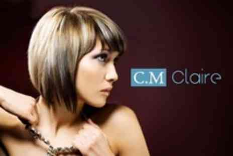 C M Claire - Half Head Highlights With Cut and Blow Dry - Save 64%