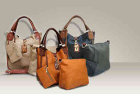 A-Shu - A 4 piece tote handbag set in a range of colours - Save 60%