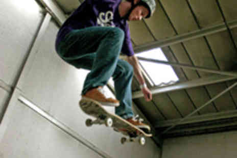 The Unit Skatepark - Anytime Indoor Skatepark Entry for Two People - Save 50%