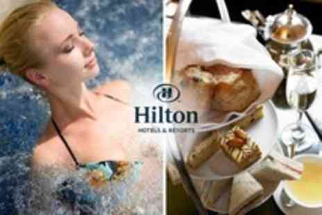 Hilton Newbury North Hotel - Afternoon Tea with Prosecco For Two Plus Spa Access - Save 59%