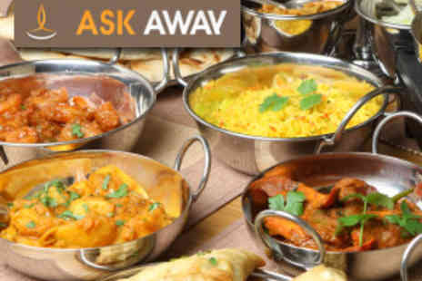 Ask Away - Indian banquet for two delivered to you - Save 59%