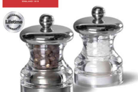 cole  mason - Cole And Mason Button Salt And Pepper Mill Set  - Save 55%
