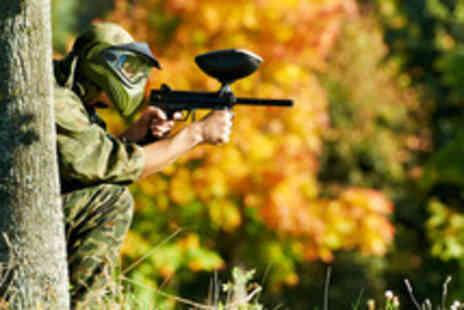 Topgun Paintball - Paintballing for up to 5 people including lunch and 100 paintballs each - Save 80%