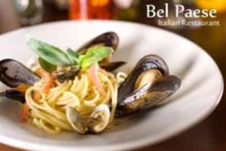 Bel Paese - Two Course Italian Meal With Sparkling Wine and Coffee For Two - Save 60%