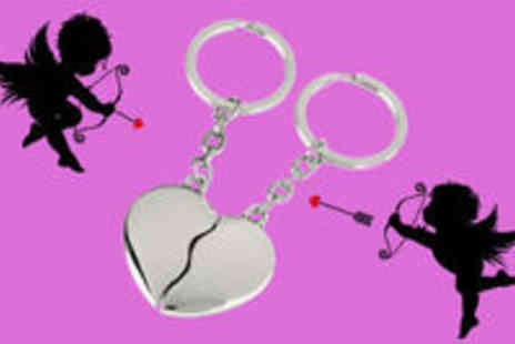 Smart Lass - Duo Heart Keyring - Save 80%