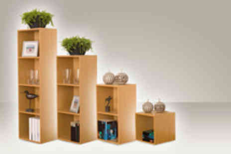 Easygift Trading - Wood storage cube for 2 shelf - Save 58%