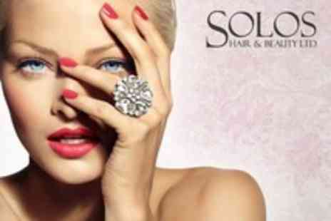 Solos Hair and Beauty - Deluxe Facial, Manicure or Pedicure Choice of One Treatments - Save 60%