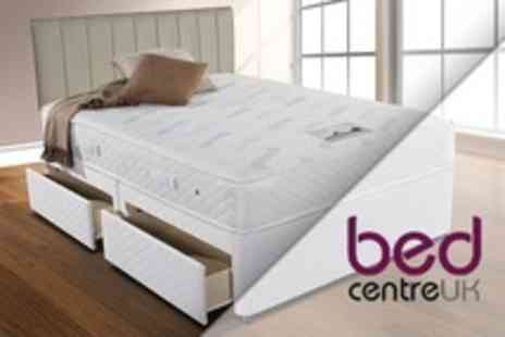 Bed Centre UK - Simmons Dorchester Two Drawer Divan Bed With Pocket Sprung Mattress - Save 61%