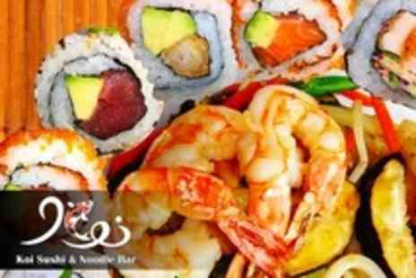 Koi Sushi and Noodle Bar - 36 Piece Sushi Meal For Two With Green Tea - Save 46%